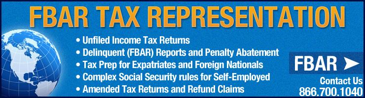 FBAR Tax FBAR Services
